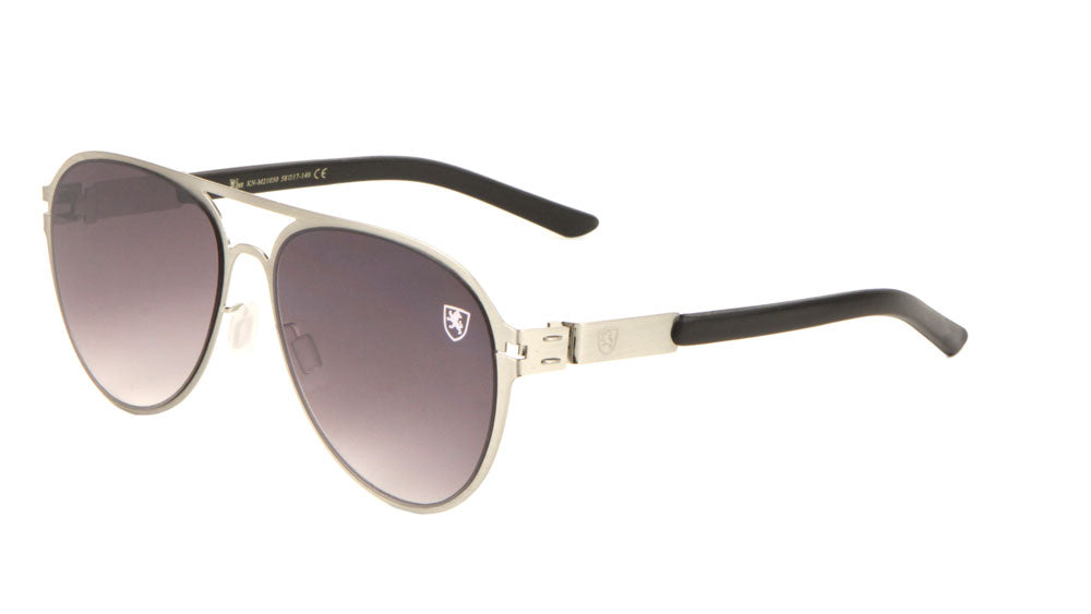 KHAN Thin Flat Frame Aviators Sunglasses Wholesale