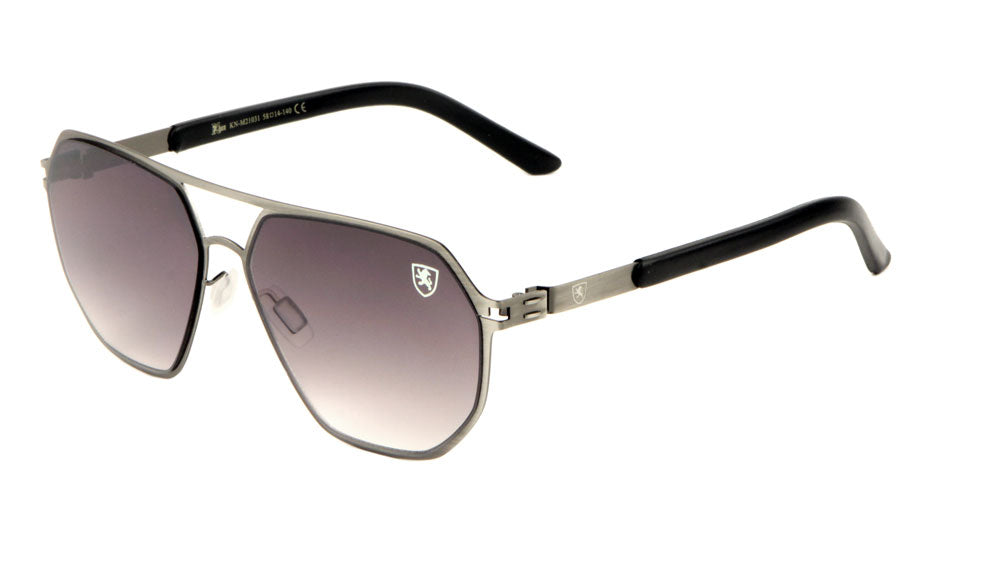 KHAN Wholesale Flat Top Aviators Sunglasses