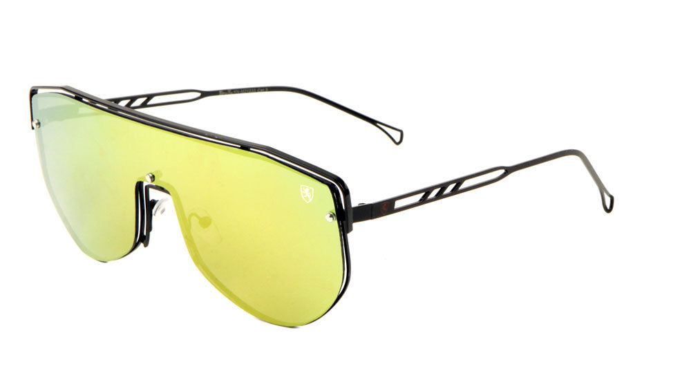 KHAN One Piece Shield Wireframe Sunglasses Wholesale