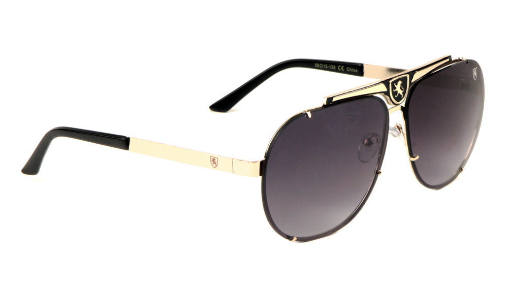 KHAN Rimless Aviators Sunglasses Wholesale