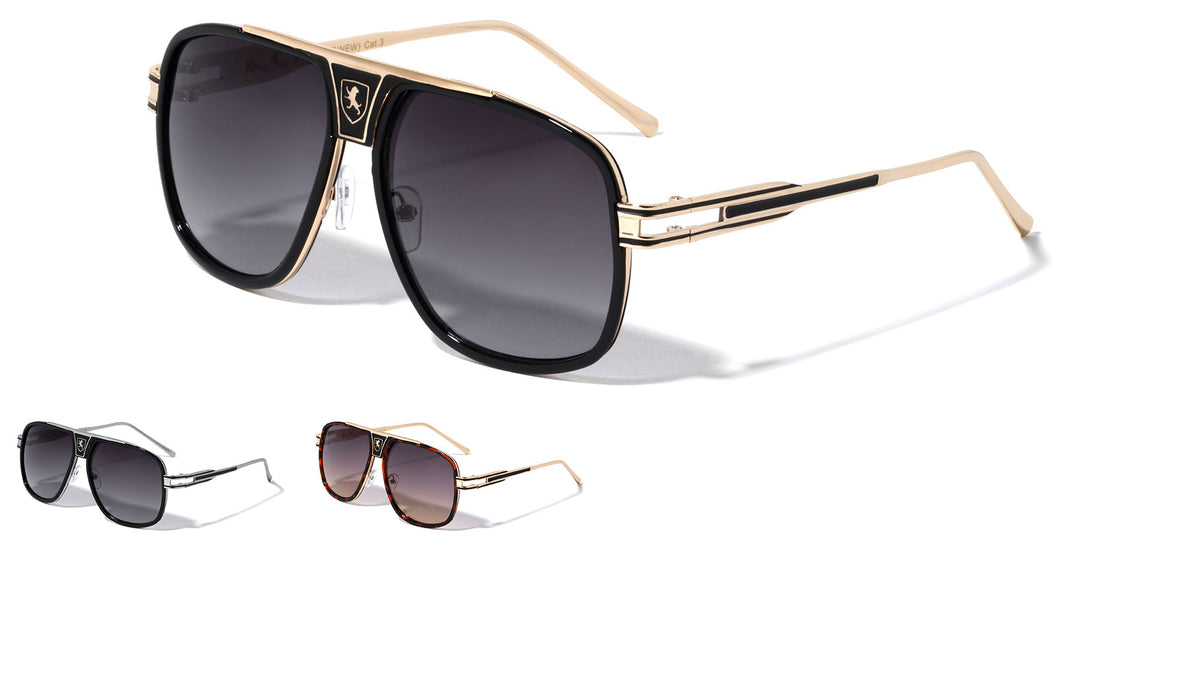 KHAN Deco Fashion Aviators Sunglasses Wholesale