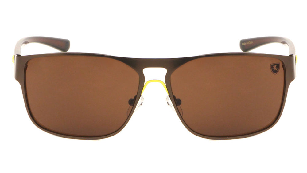 KHAN Classic Stripe Logo Sunglasses Wholesale