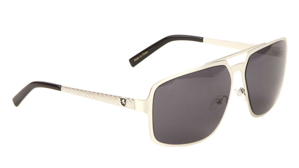 KHAN Wholesale Etched Temple Aviators Sunglasses
