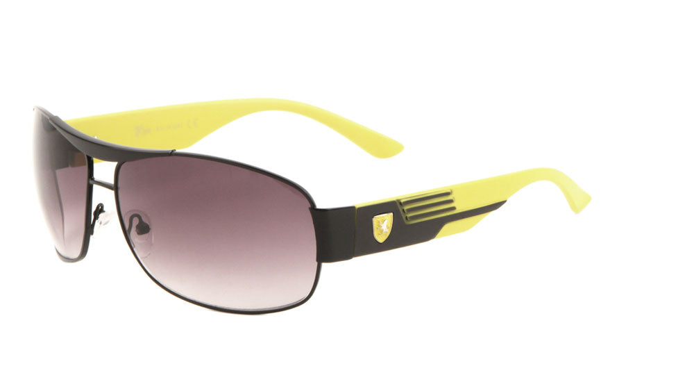KHAN Sports Pinstripe Aviators Wholesale Sunglasses
