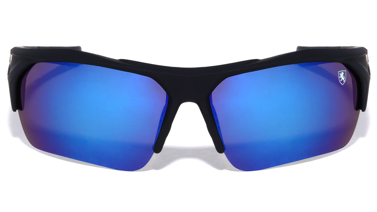 KHAN Soft Coat Semi-Rimless Sports Sunglasses Wholesale
