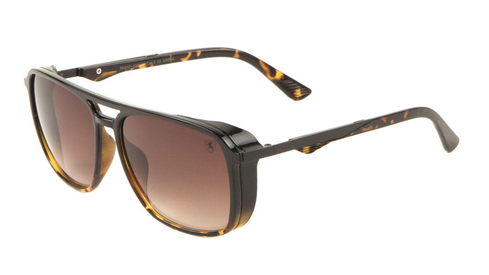 KN-P01022 - KHAN Squared Aviators Bulk Wholesale Sunglasses