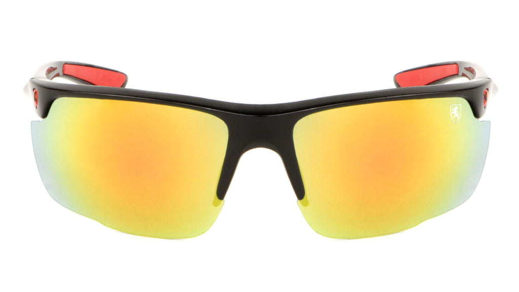 KHAN Semi-Rimless Sharkfin Sports Sunglasses Wholesale
