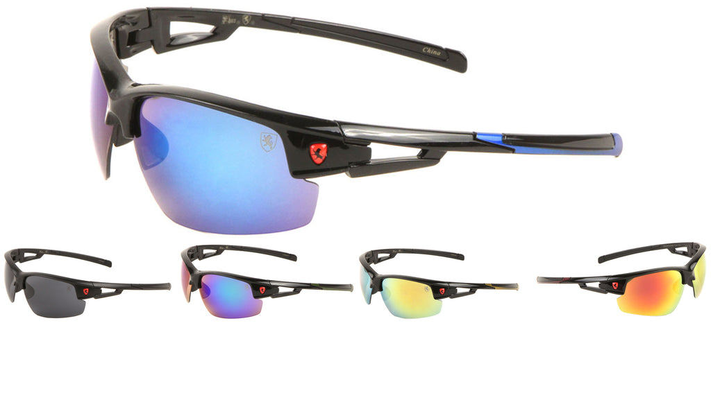 KHAN Semi-Rimless Sports Wholesale Sunglasses