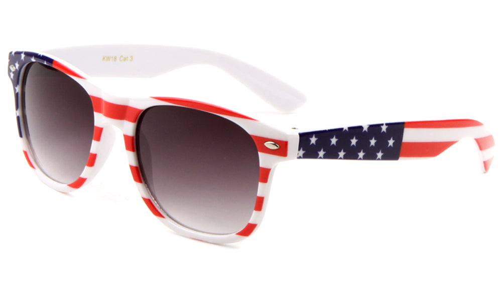 Kids' Classic American Flag Wholesale Bulk Sunglasses