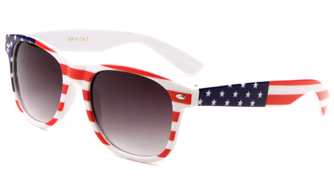 KW-18 - Kids Classic American Flag Wholesale Bulk Sunglasses