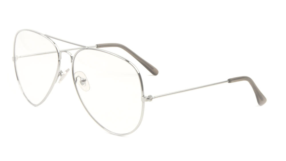 Large Clear Lens Aviators Glasses Wholesale