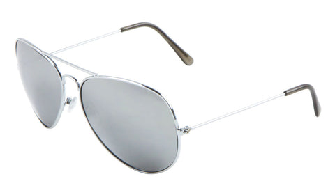 L6258-MR - Large Mirrored Lens Aviators Sunglasses Wholesale