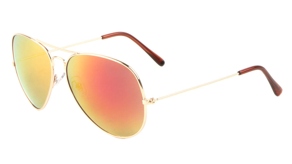 Large Revo Color Mirror Aviators Sunglasses Wholesale