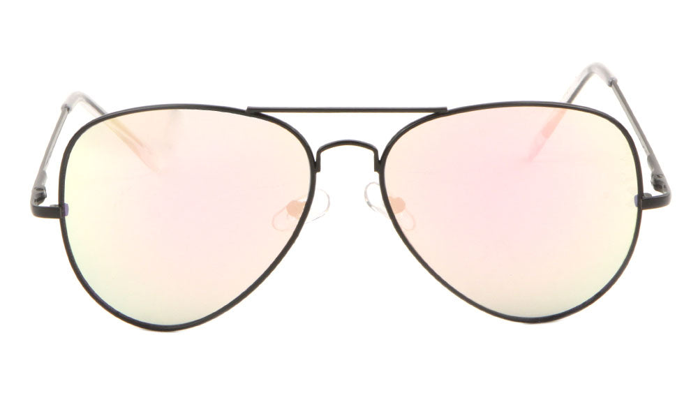 Large Black Rose Gold Spring Hinge Aviators Wholesale