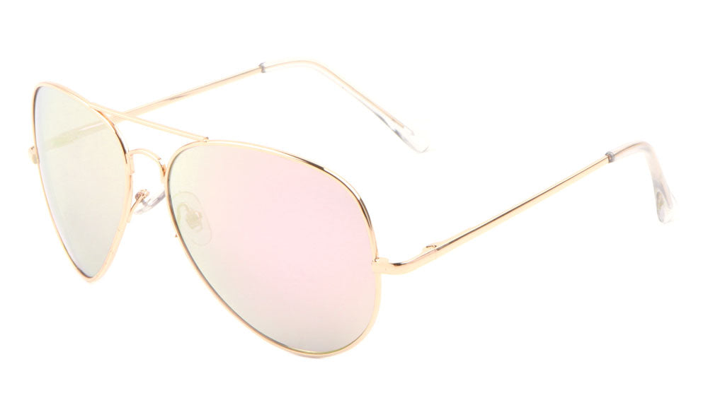 Large Gold Rose Gold Spring Hinge Aviators Wholesale