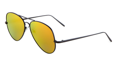 L6322-FT-CM - Flat Color Mirror Lens Aviators Wholesale Bulk Sunglasses