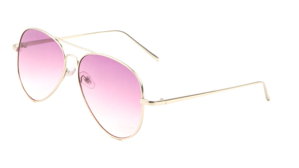 Large Flat Oceanic Color Lens Aviators Sunglasses Wholesale
