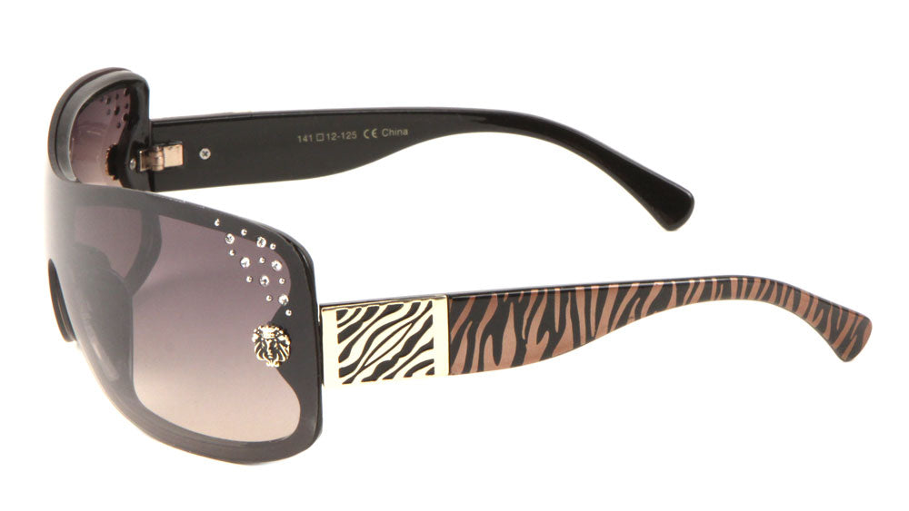 KLEO Rhinestone One Piece Fashion Sunglasses Wholesale