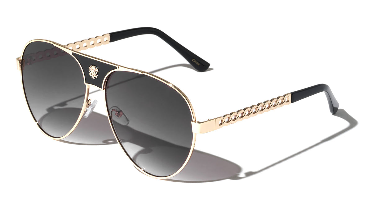 KLEO Chain Aviators Wholesale Sunglasses