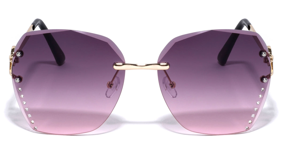 KLEO Rimless Butterfly Wholesale Sunglasses