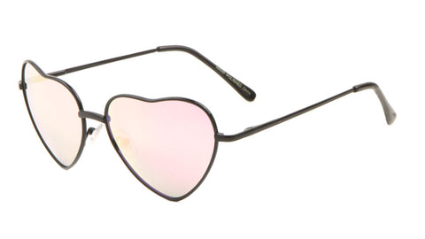 Heart Rose Gold Lens Wholesale Bulk Sunglasses
