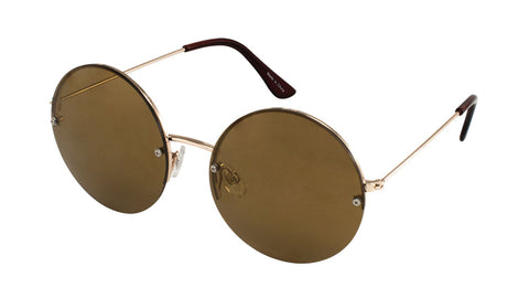 M10056 - Rimless Round Wholesale Bulk Sunglasses