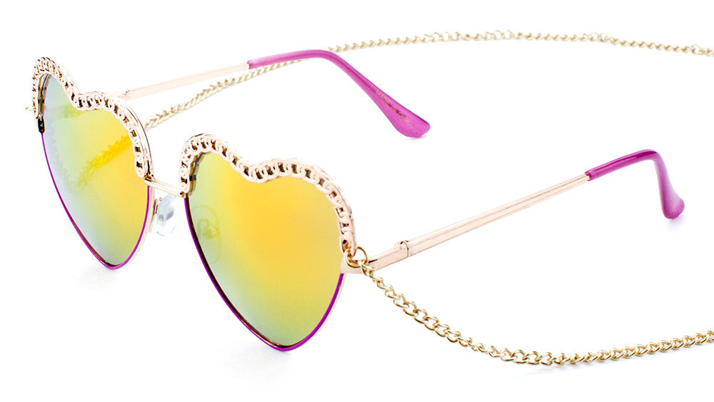 Heart Chain linked Wholesale Bulk Sunglasses