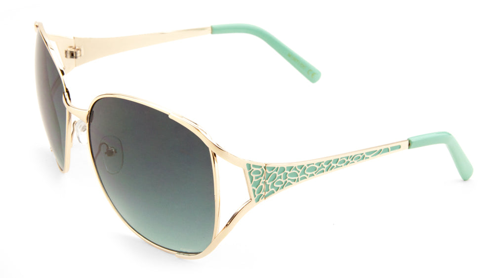 Butterfly Pebble Pattern Oceanic Color Wholesale Sunglasses