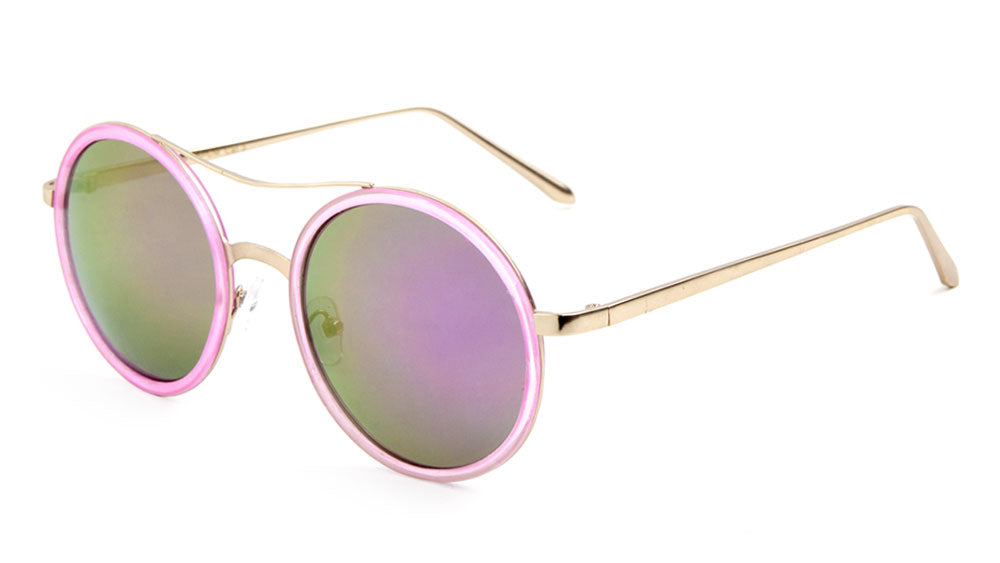 Color Mirror Lens Round Wholesale Bulk Sunglasses