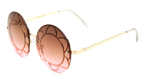 M10139-OC - Rimless Round Oceanic Color Wholesale Bulk Sunglasses