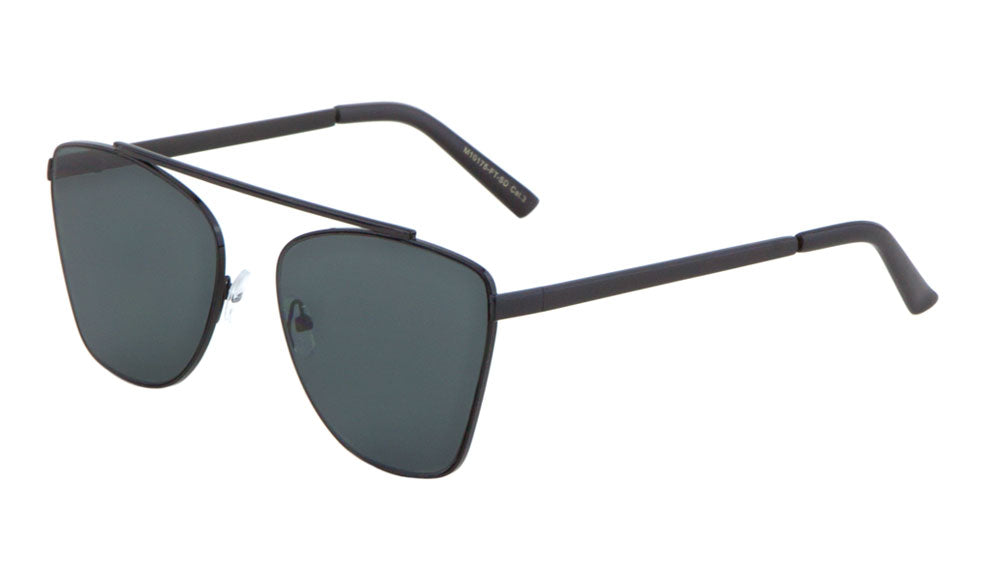 Bridgeless Flat Super Dark Lens Wholesale Bulk Sunglasses