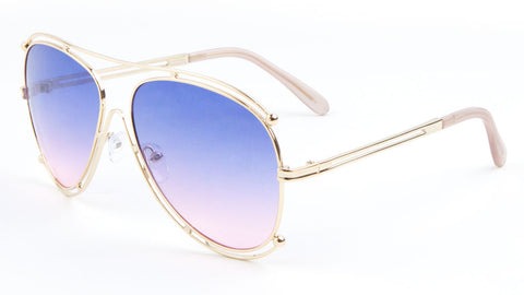Accent Outline Oceanic Color Aviators Wholesale Sunglasses