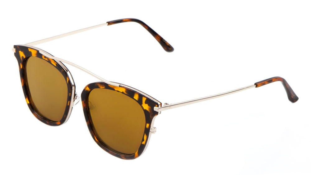 Bridgeless Retro Fashion Wholesale Sunglasses