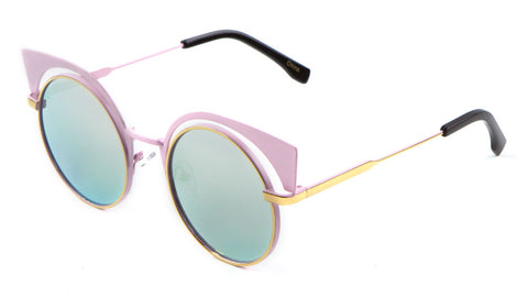M10191 - Round Cat Eye Brow Fashion Wholesale Sunglasses
