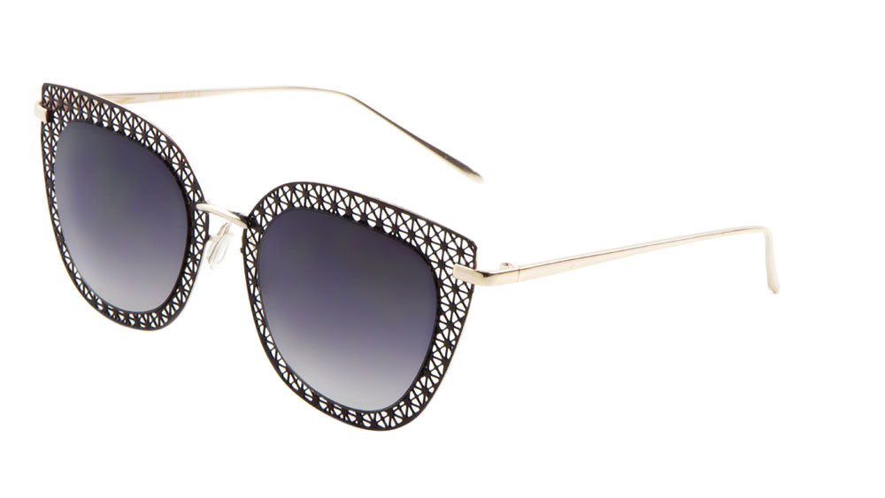 Cat Eye Metal Mesh Wholesale Bulk Sunglasses