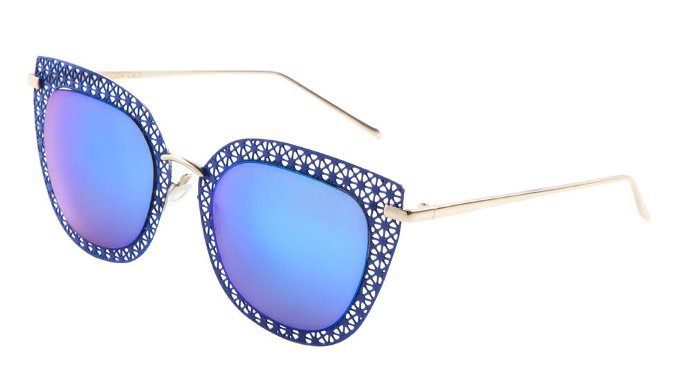 Cat Eye Metal Mesh Fashion Wholesale Sunglasses