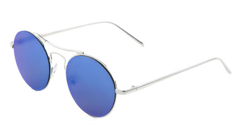 M10211-FT - Round Aviators Flat Lens Wholesale Bulk Sunglasses