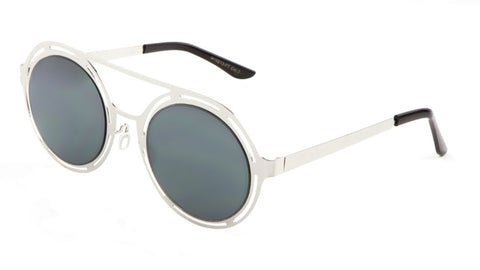 M10213-FT - Round Aviators Flat Lens Wholesale Bulk Sunglasses