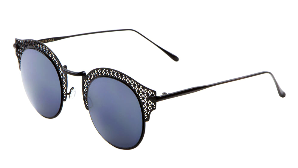 Retro Brow Metal Mesh Wholesale Fashion Sunglasses