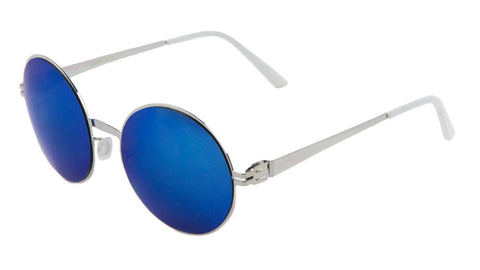 M10228-CM - Rimless Round Color Mirror Wholesale Bulk Sunglasses