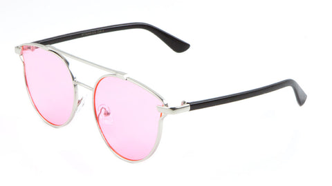 Retro Aviators Color Lens Wholesale Sunglasses
