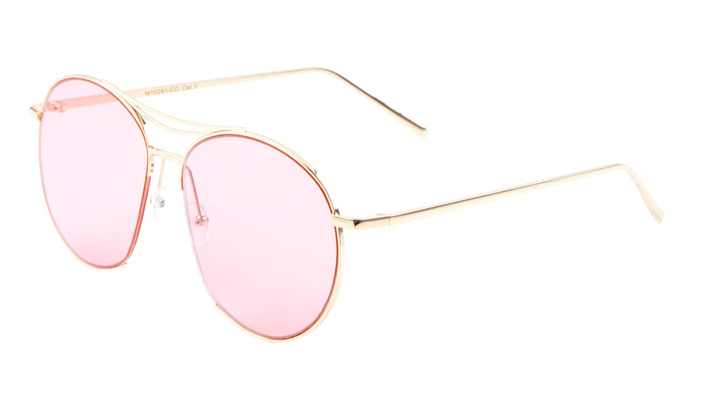 Round Aviators Color Lens Wholesale Bulk Sunglasses