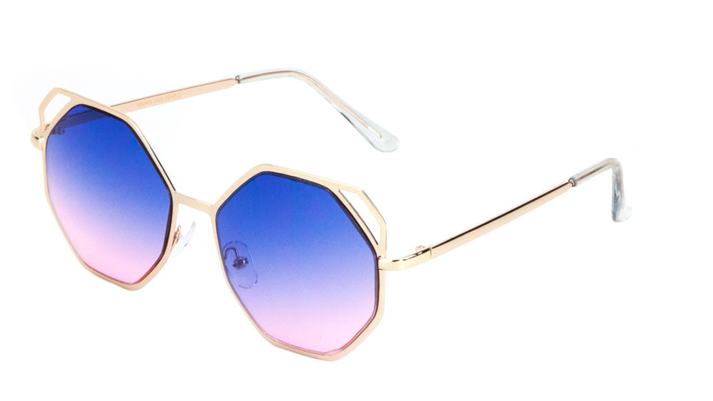 Accent Corner Octagon Fashion Wholesale Sunglasses