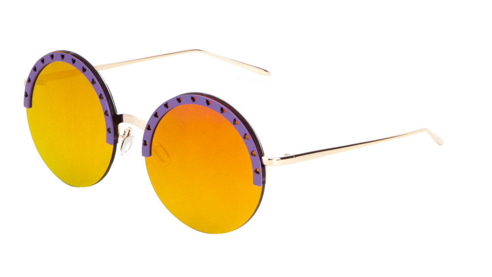 Round Rimless Wholesale Bulk Sunglasses