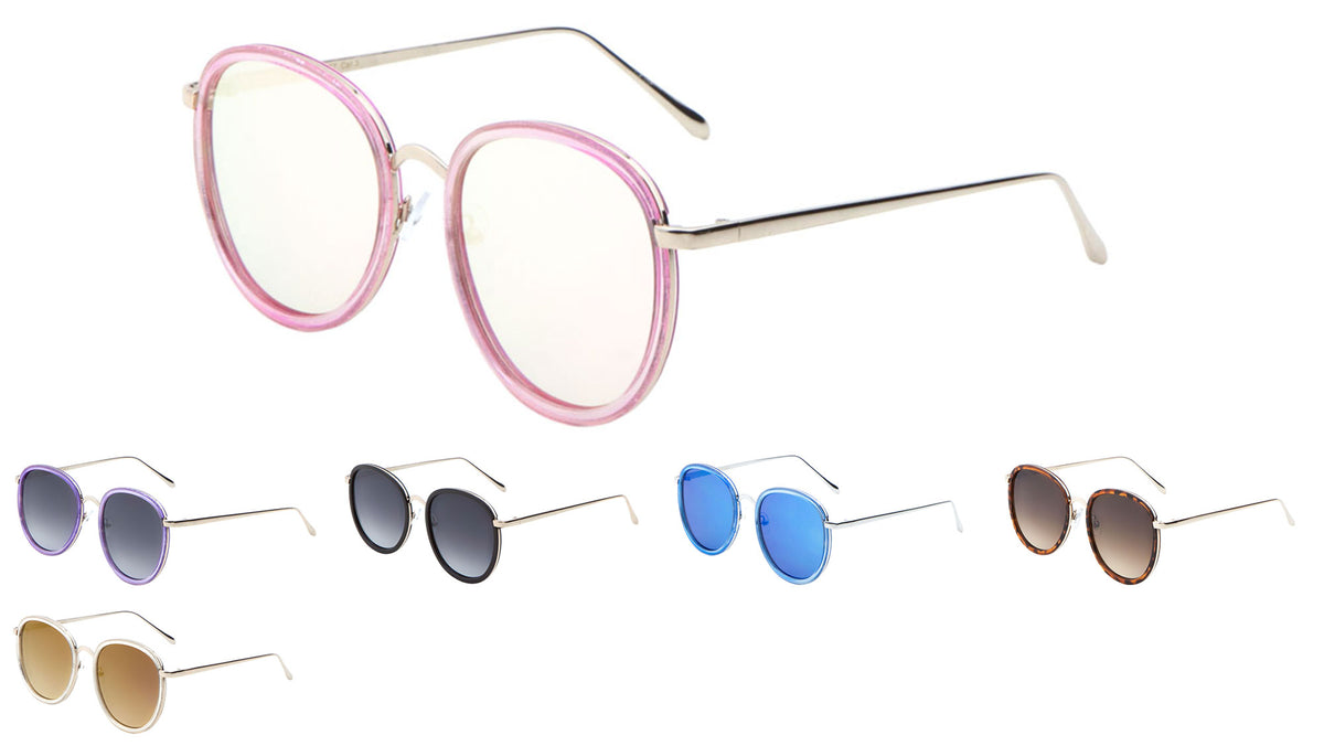 Butterfly Flat Lens Wholesale Bulk Sunglasses