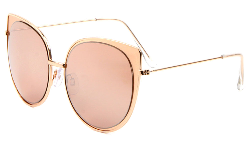 Cat Eye Color Mirror Wholesale Bulk Sunglasses