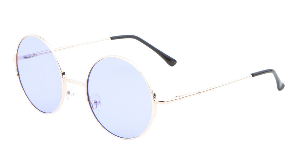 Round Sunglasses with Flat Color Lens