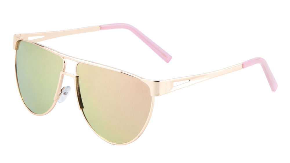 Flat Top Flat Lens Rose Gold Wholesale Bulk Sunglasses