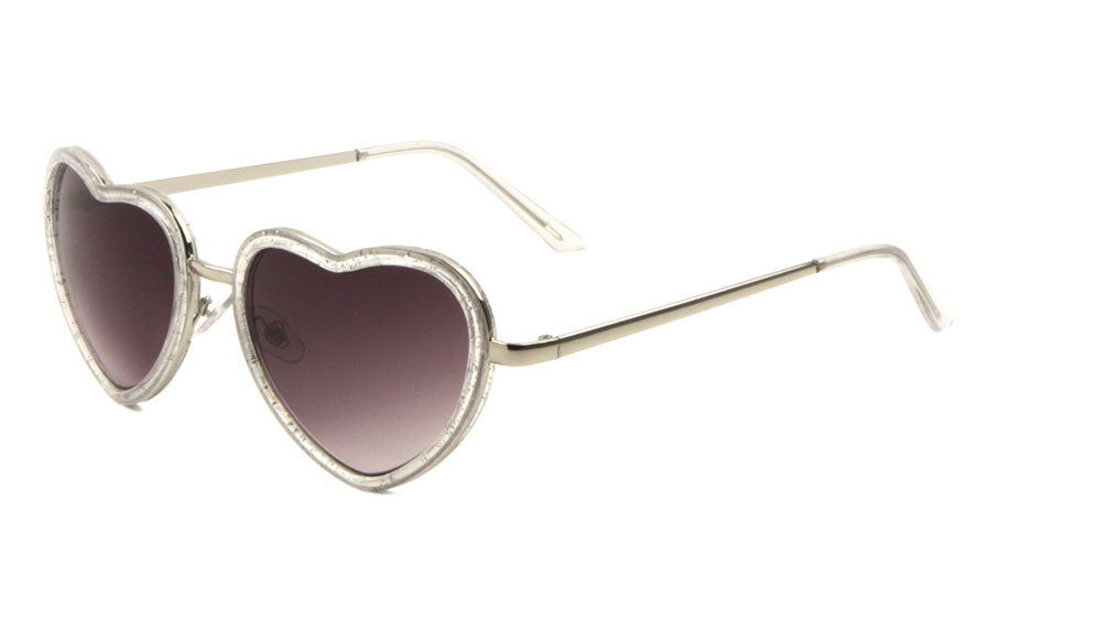 Heart Shaped Wholesale Bulk Sunglasses