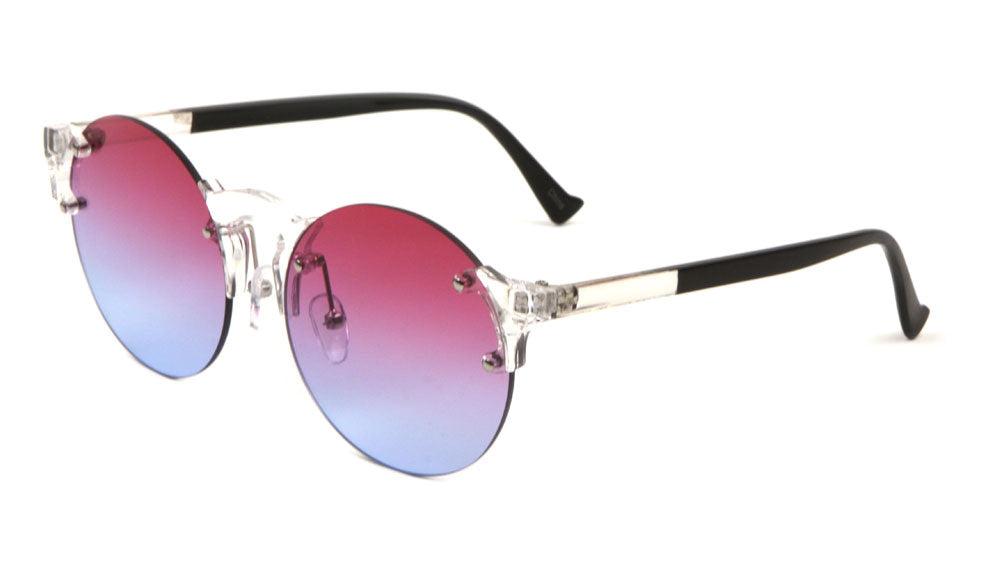 Rimless Retro Oceanic Color Lens Wholesale Bulk Sunglasses